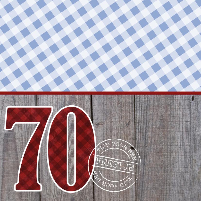 Uitnodiging verjaardagsfeest man 70 stoer 2
