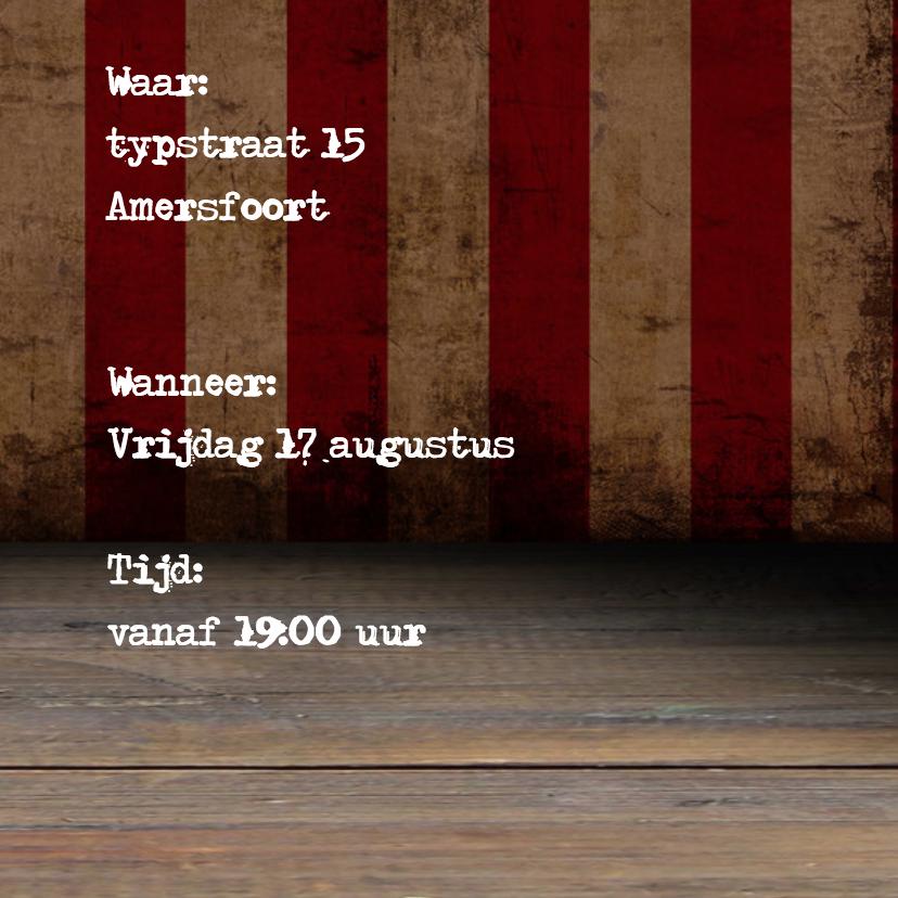Uitnodiging vintage typewriter 3