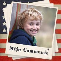 Communiekaarten - Uitnodiging vlag Amerika - BK
