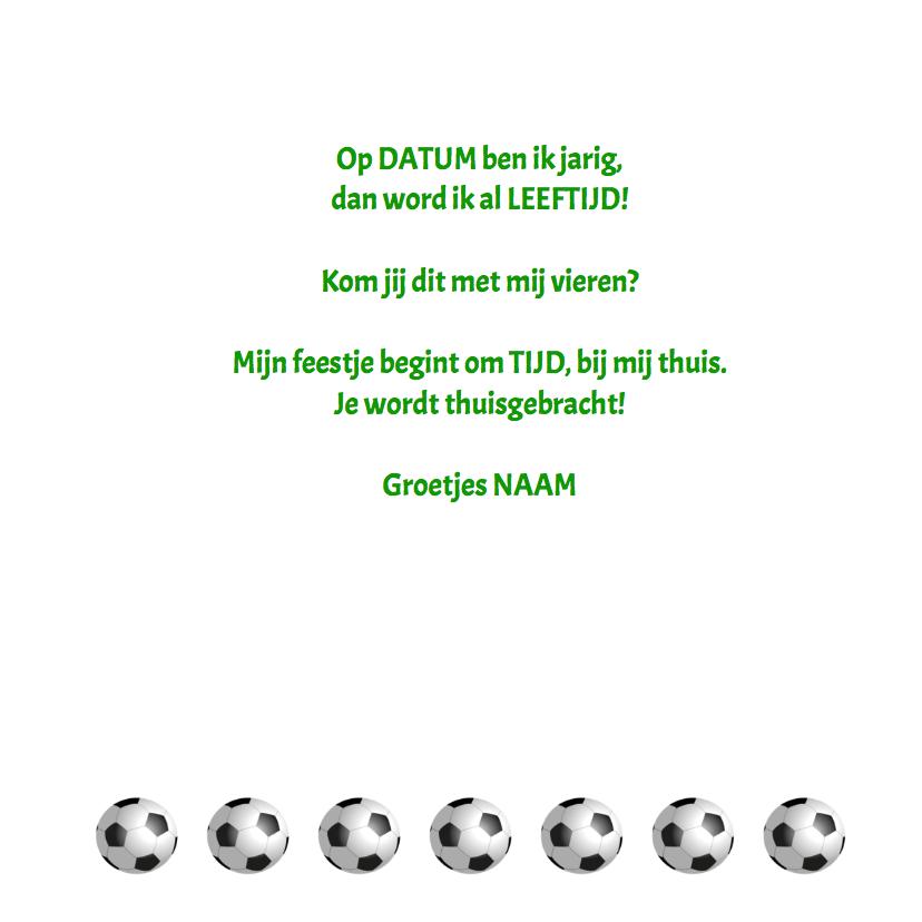 Uitnodiging Voetbal keeper 3