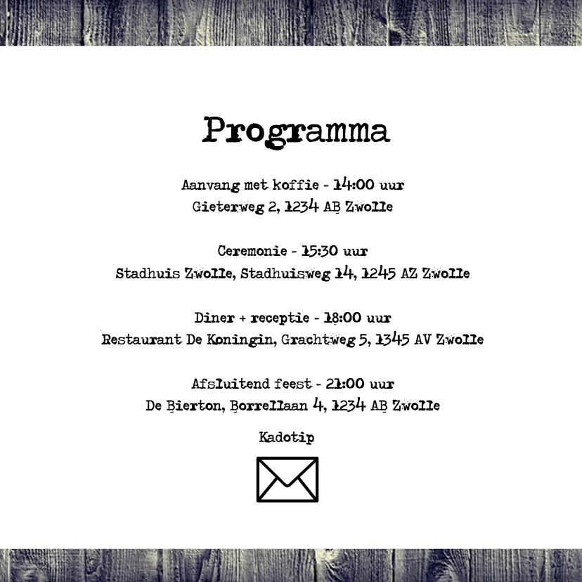 Uitnodiging voor bruiloft - DH 2