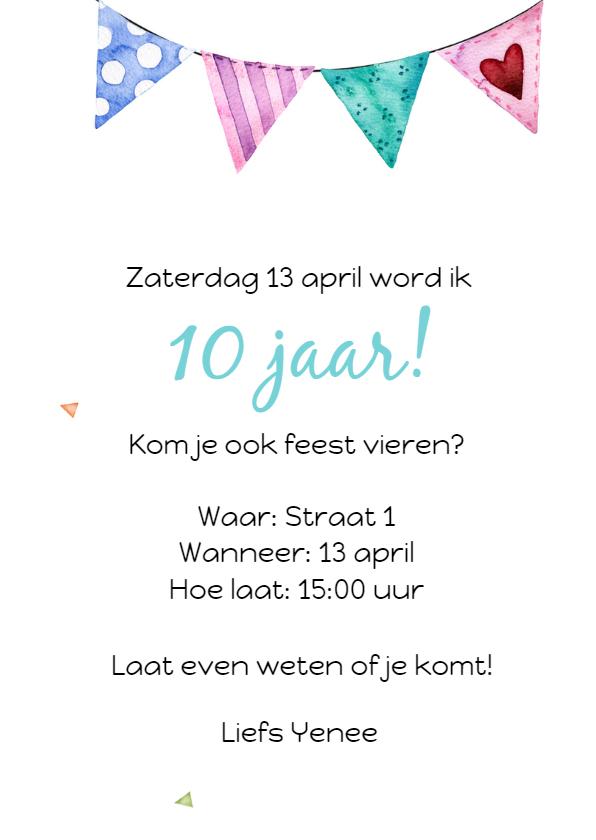 Uitnodiging: voor een kinderfeestje met lama 3