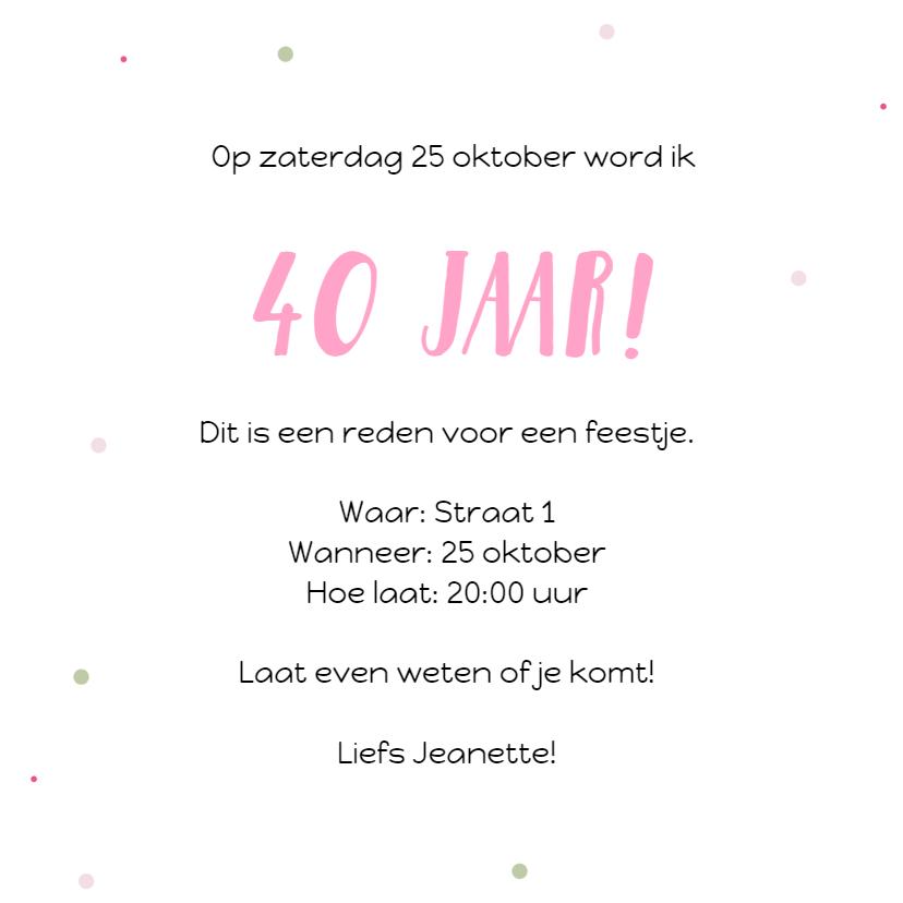 Uitnodiging: voor een verjaardagsfeestje 3