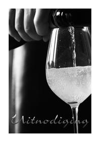 Uitnodigingen - Uitnodiging wijnglas