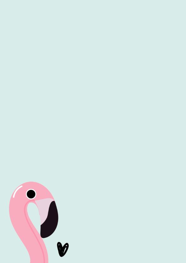 Uitnodiging zwemfeestje flamingo 2