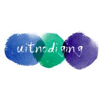 Uitnodigingen - Uitnodigingen Blauw groen verf
