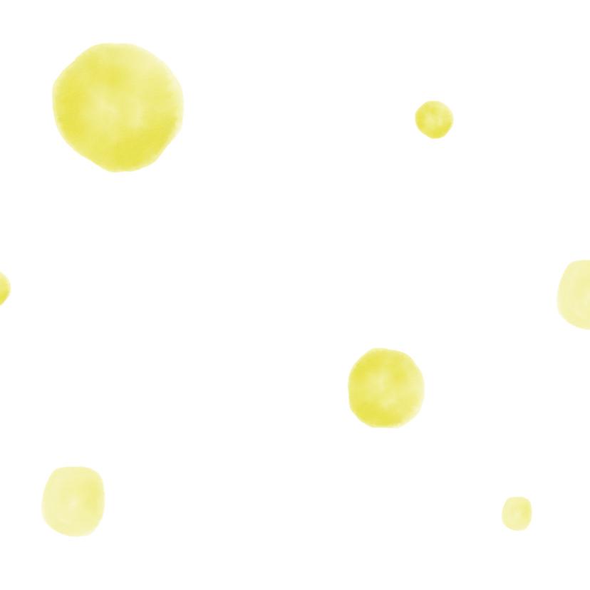 Uitnodigingen Gele confetti  2