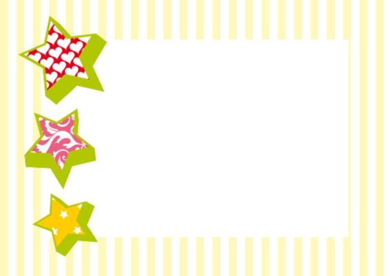 Uitnodigingskaart Party strepen 2