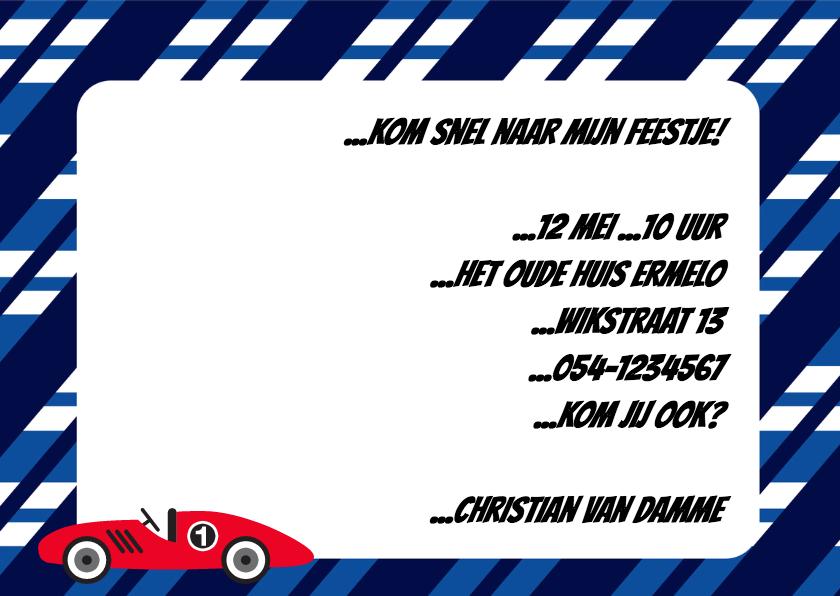 Uitnodigingskaart Race! - BK 3