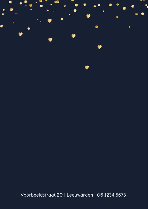 Uitnodigingskaart wolk goud 2