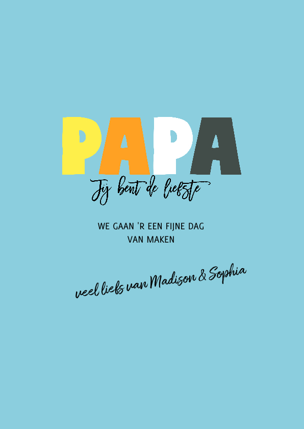 Vaderdag PAPA letters 3