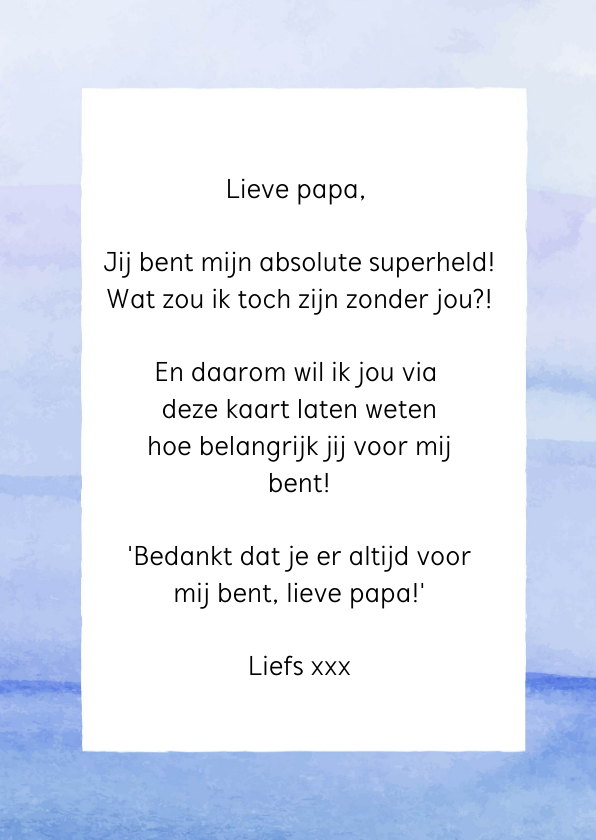 Vaderdag - You are my superhero! 3