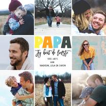Vaderdagkaart 9 foto's vierkant