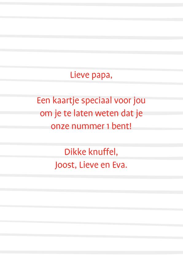 Vaderdagkaart papa is een kanjer 3