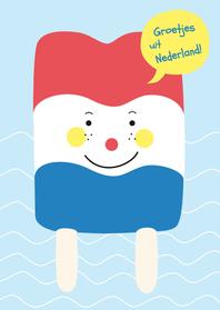 Vakantiekaarten - Vakantie-Groet Nederland-HK