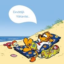 Vakantiekaarten - Vakantie Loeki op  luchtbed - A