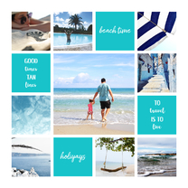 Vakantiekaart fotocollage 'Beach Time'