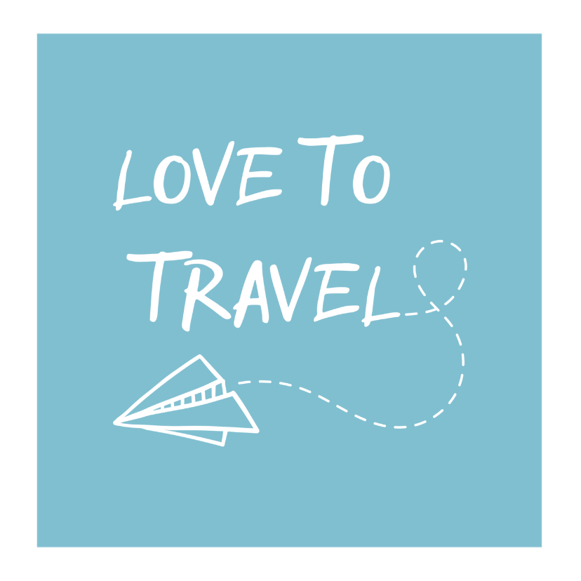 Vakantiekaart fotocollage 'Love to Travel' 2