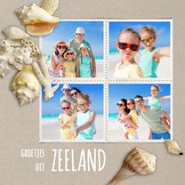 Vakantiekaarten - Vakantiekaart strandzand schelpen - SG
