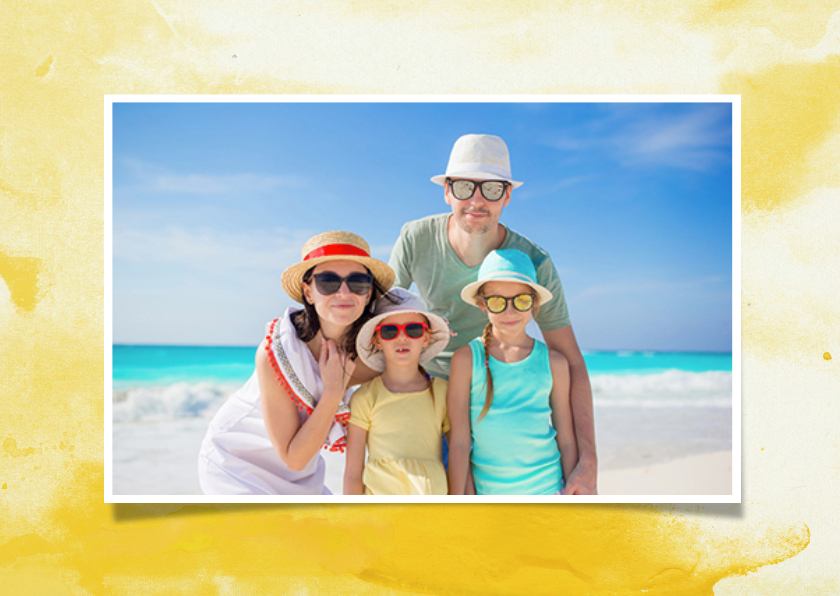 Vakantiekaart zonnig met foto's 2