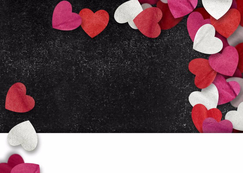 Valentijn krijtbord hartjes 2