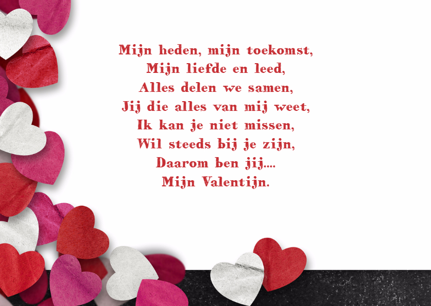 Valentijn krijtbord hartjes 3