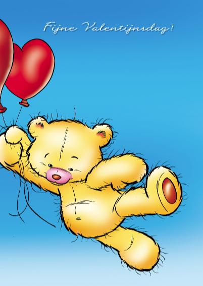 Valentijn lief beertje met ballonnen 3