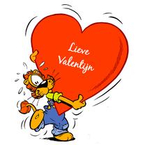 Valentijnskaarten - Valentijn Loeki groot hart A