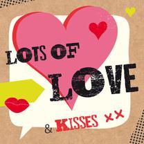 Valentijnskaarten - Valentijn-Lots of love-HK