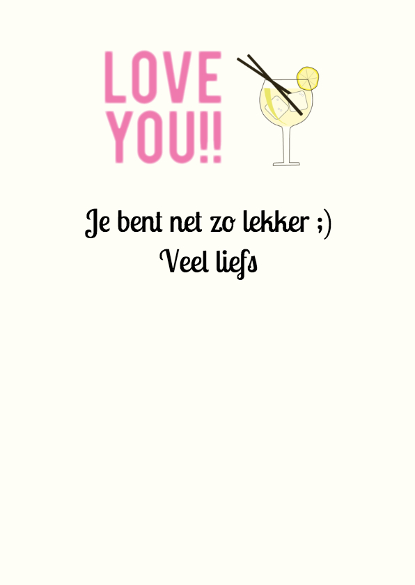 Valentijn Love like gin tonic 3