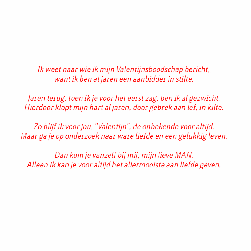 Valentijn man rood hout 3