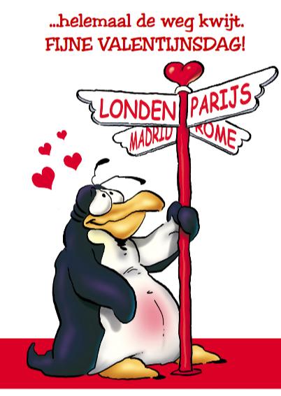 Valentijn pinguin met groot hart 3
