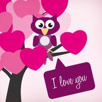 Valentijn - uil hart - MD