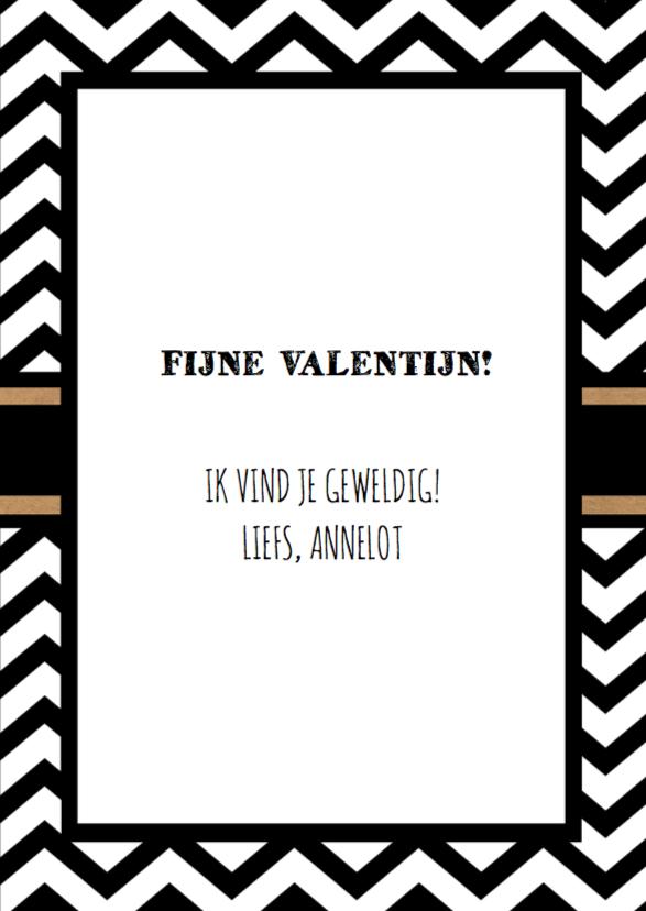 Valentijn zwart wit zigzag foto 3
