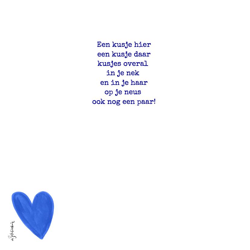 Valentijnskaart blauw jij bent de allerliefste fotocollage  2