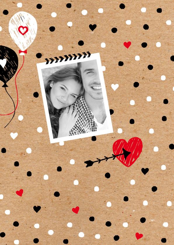 Valentijnskaart foto zwartwit 2