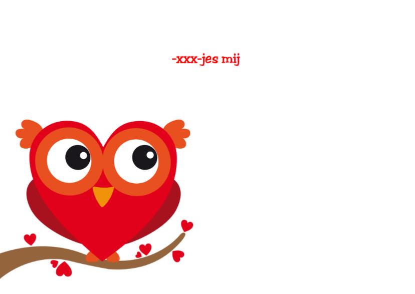 Valentijnskaart grappig uiltje 3