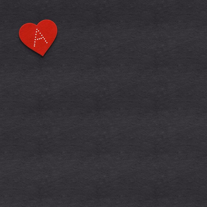 Valentijnskaart hart en namen 2