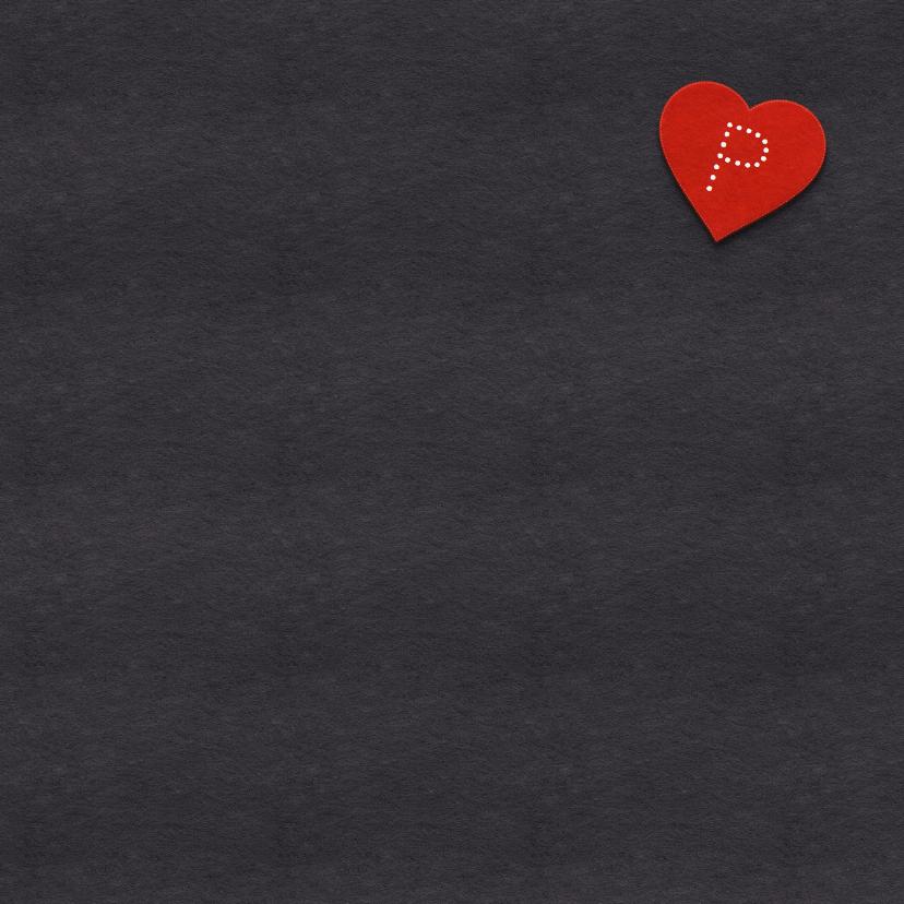 Valentijnskaart hart en namen 3