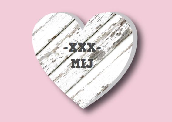 Valentijnskaart hart houtprint 3