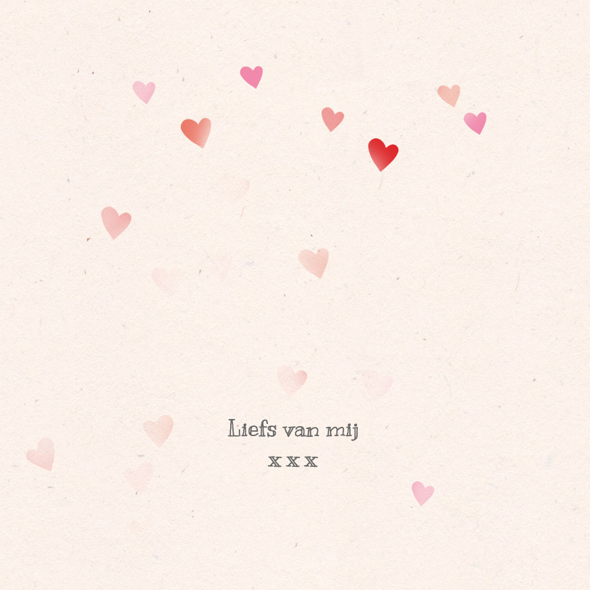 Valentijnskaart hartenregen 3