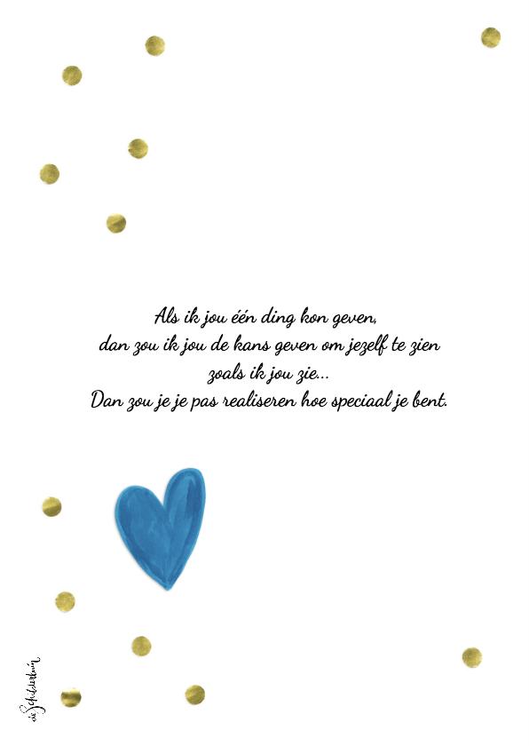 Valentijnskaart Ik hou van jou gouden confetti 2