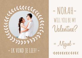Valentijnskaarten - Valentijnskaart Kraft Naam Foto