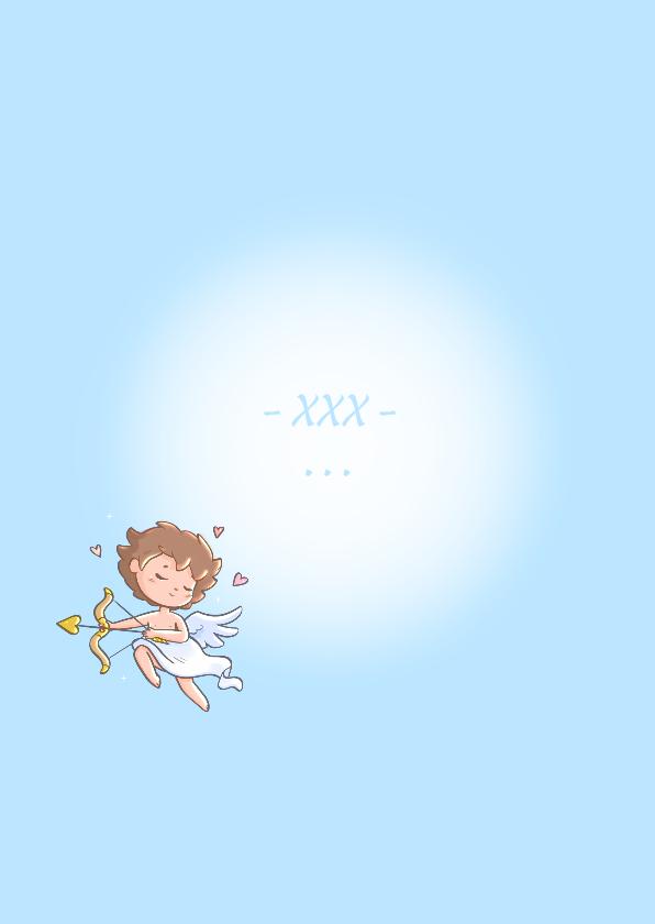 Valentijnskaart met Cupido illustratie 3
