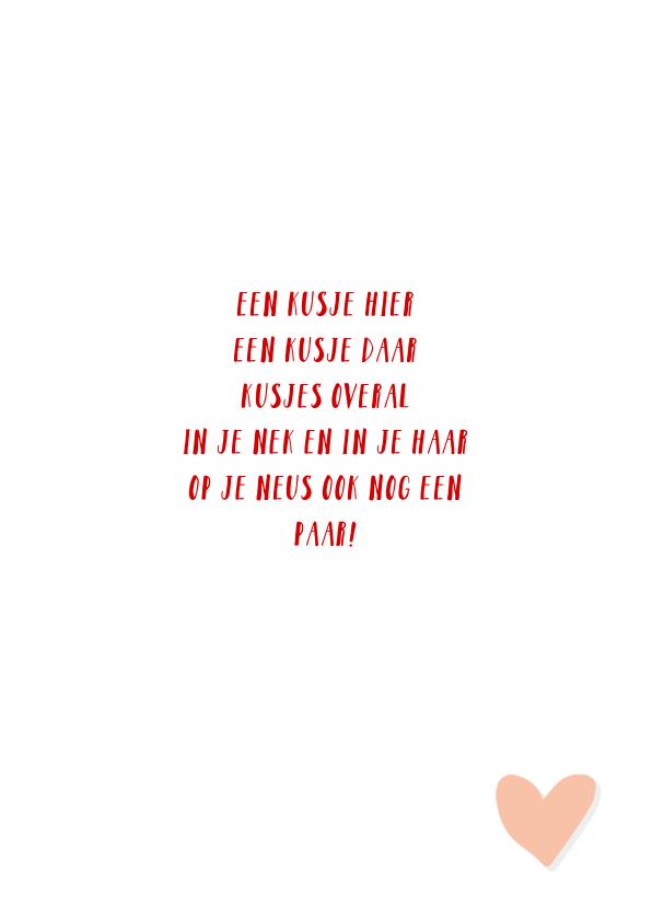 Valentijnskaart met jou is alles leuker rood 3