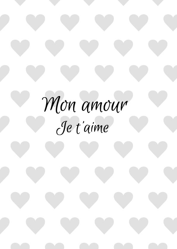 Valentijnskaart Mon Amour 3