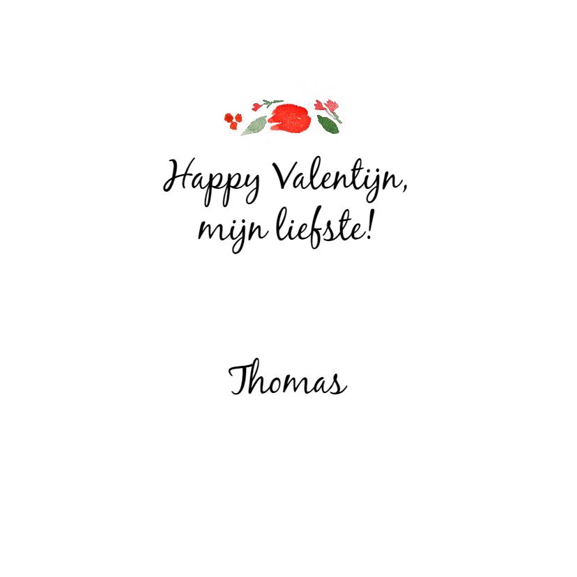 Valentijnskaart, naam en kransje 3