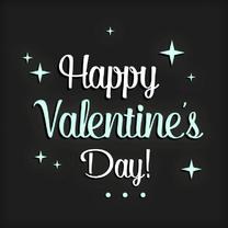 Valentijnskaart sterren Letters