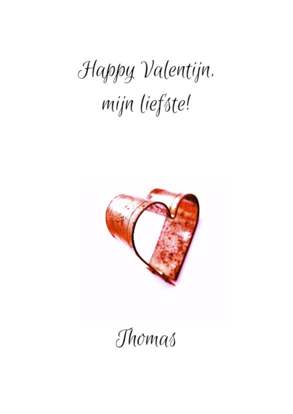 Valentijnskaart, tinnen hartje 3