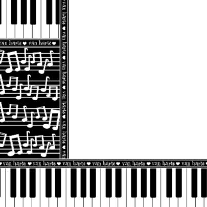 Van Harte... muzieknoten piano 2